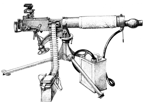 ferguson rifle M101 105Mm Howitzer p 10 vickers model 1912 1912 onwards 303 british 7 7x56mm r recoil operated water cooled 450 rpm 250 round canvas belt 45 5 overall length