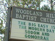 Woodland Hills Baptist Church sign